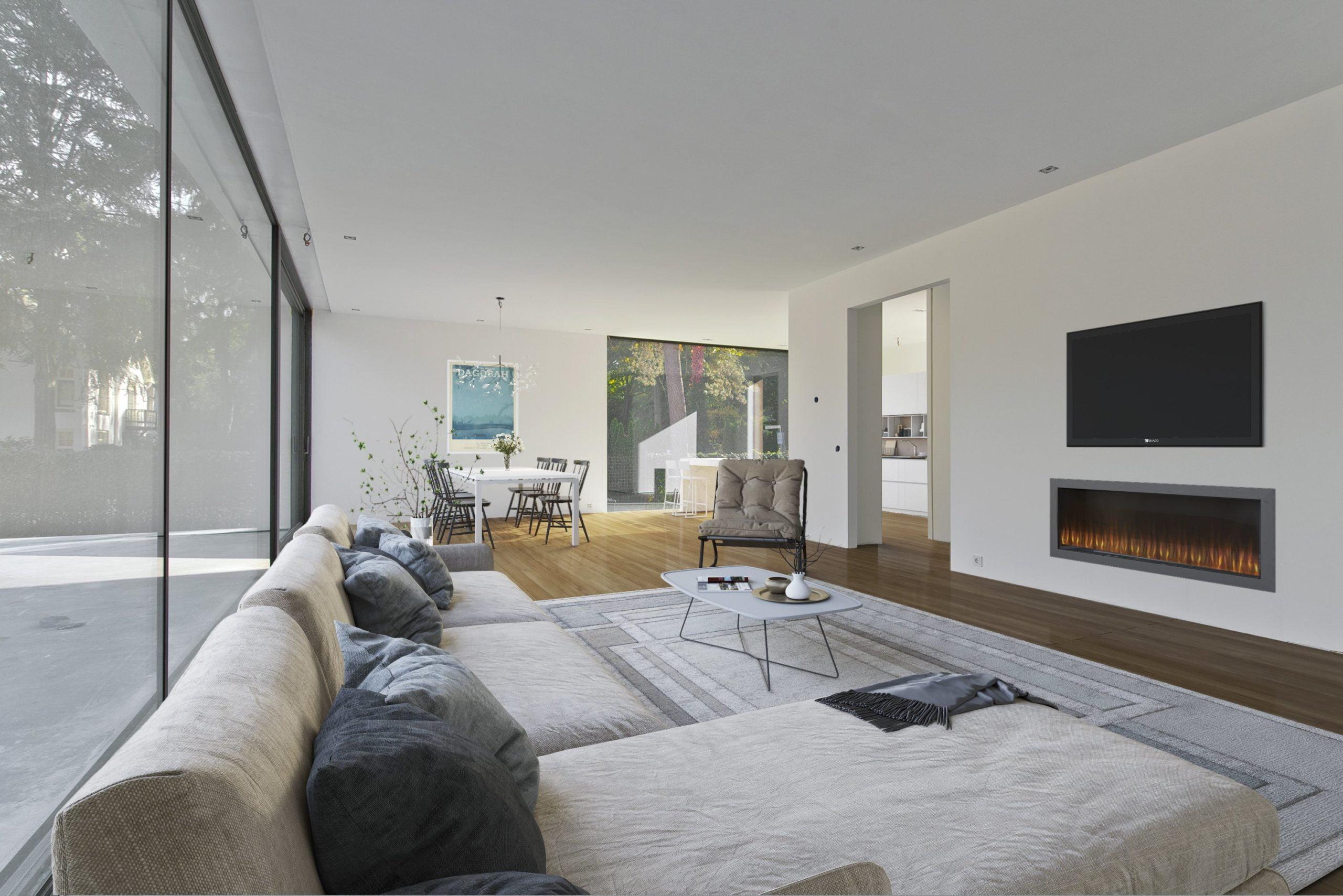 moderne woonkamer + keuken