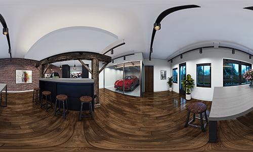 360 virtuele impressie: Man cave