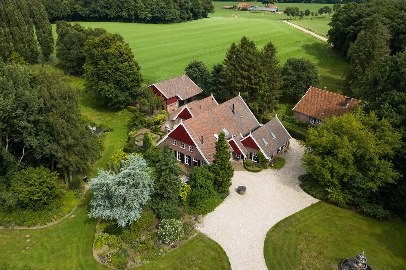drone fotografie van boerderij