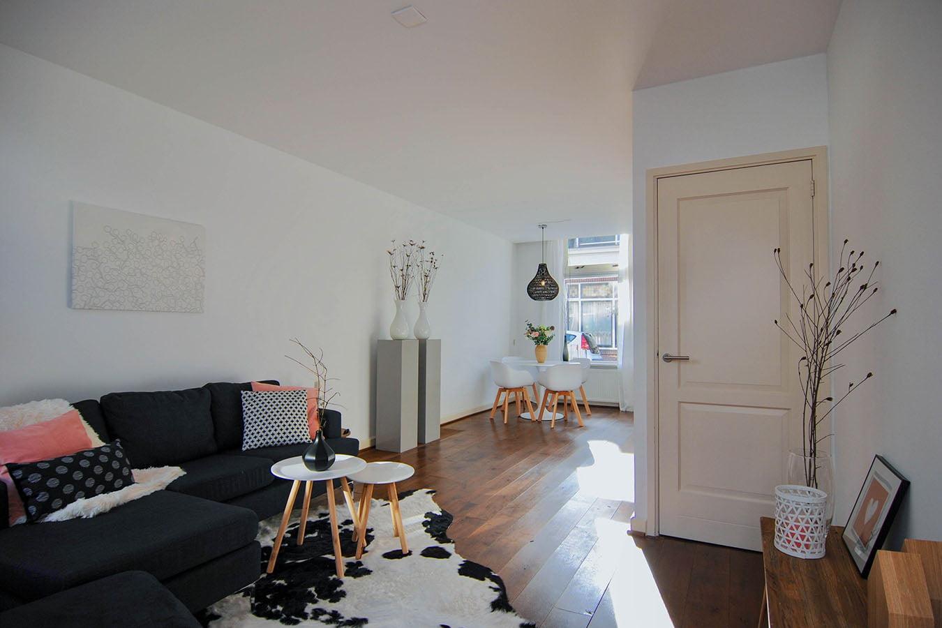 styling van het zitgedeelte in een woonkamer