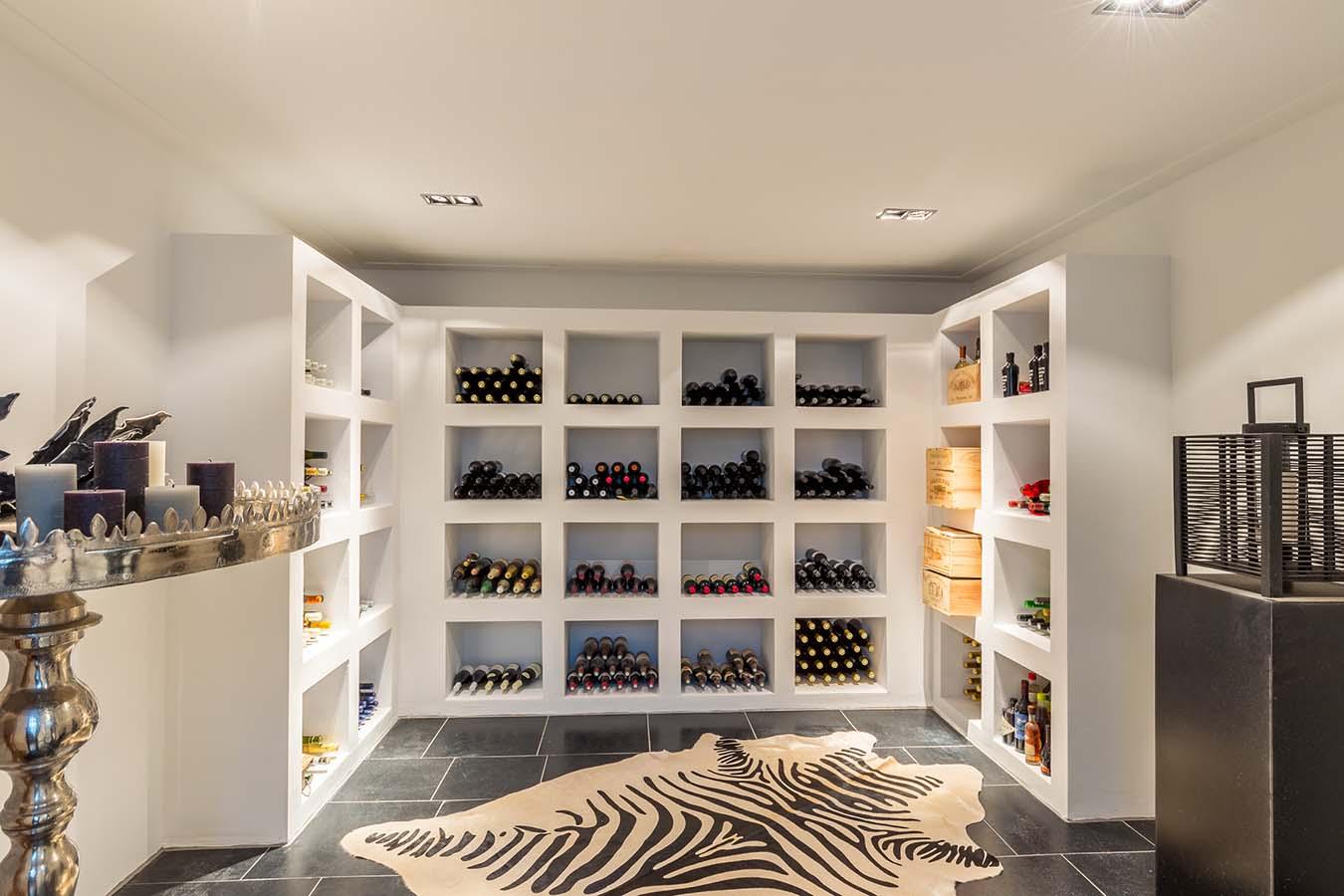 wijnkast in woning