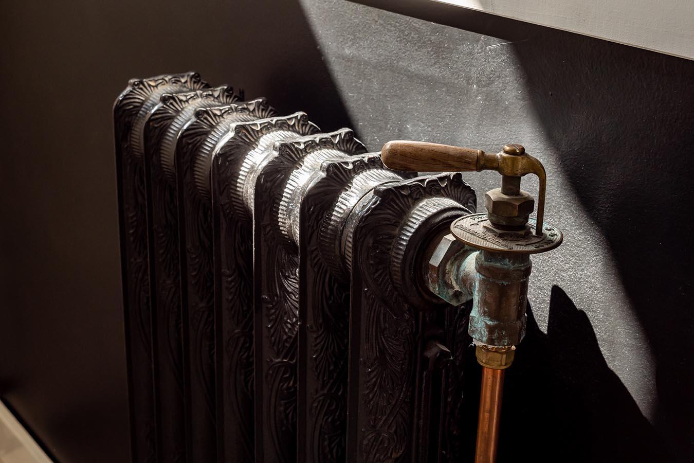 Detailfoto van een verwarming