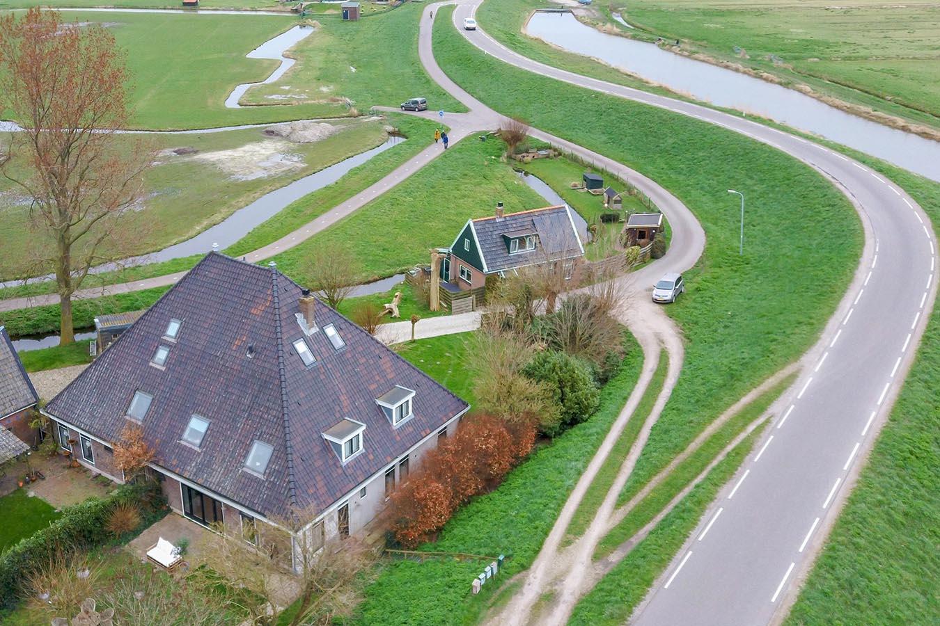Drone foto van een woning