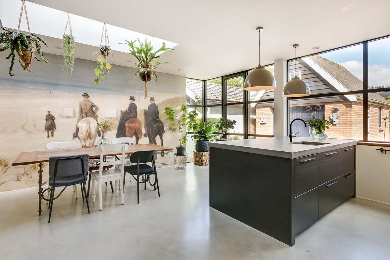 moderne keuken ergens in noord-holland