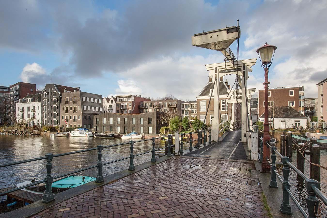 grachten van amsterdam met bruggetje
