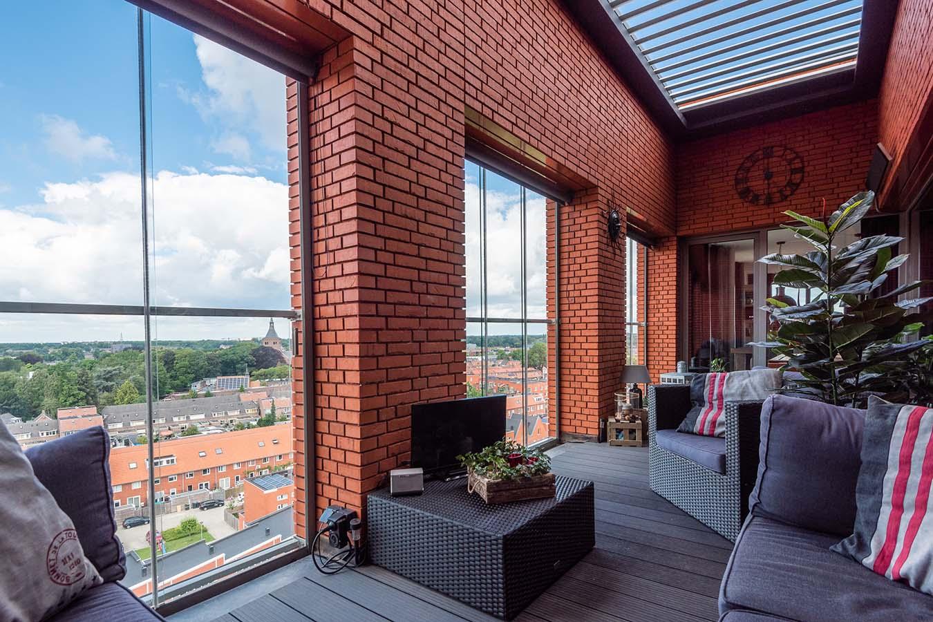 uitzicht vanuit een penthouse