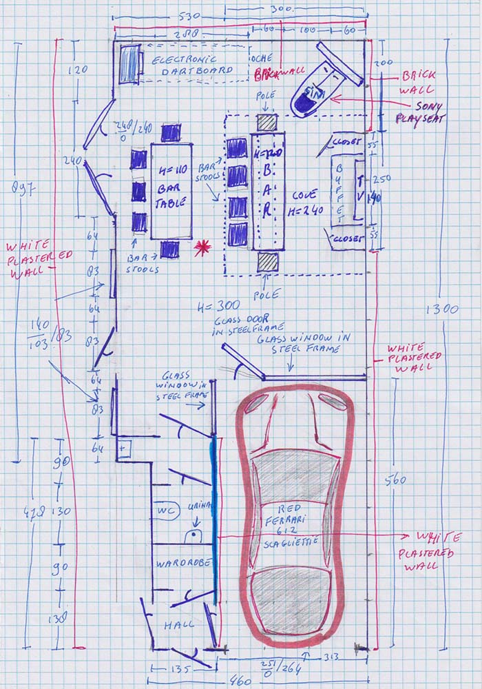 schets tekening huis