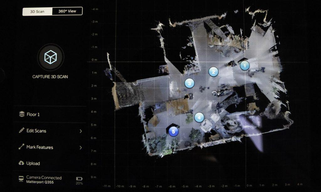 Een scan van een matterport
