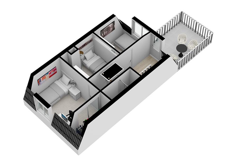 een strakke en professionele plattegrond voor de verkoop van uw woning